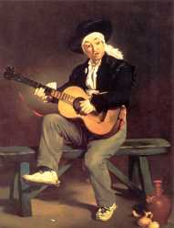 Spanish Guitarist - Edouard Monet