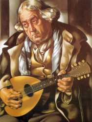 Old Man With Guitar - Tamara De Lempicka