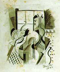 Still Life With Guitar - Salvador Dali