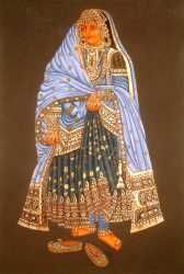 An Elaborately Dressed Nautch Girl