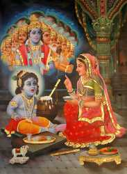 Baby Krishna Shows His Vishvarupa To Mother Yasoda