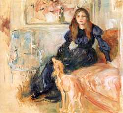 Julie Manet And Her Greyhound - Laertes