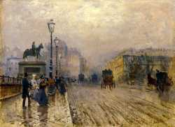 Rue Paris With Carriages