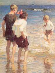 Children At Shore No 3
