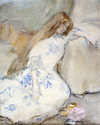 A Young Girl Resting