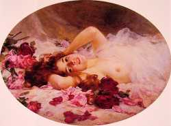 Beauty Amid Rose Petals