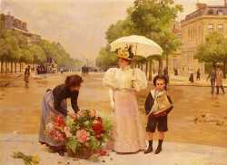 The Flower Seller, Avenue Des Champs-Elysees, Paris