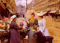 The Flower Seller, Avenue De L'Opera, Paris 2