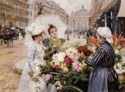 The Flower Seller, Avenue De L'Opera, Paris 3