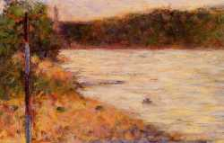 Bathing At Asnieres - Banks Of A River
