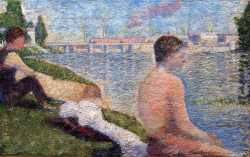 Bathing At Asnieres - Seated Bather