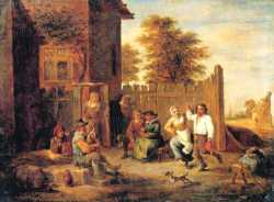Peasants Merry-Making Outside An Inn