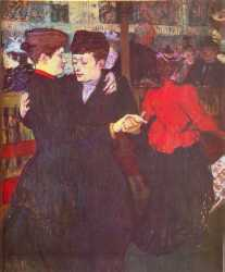 At The Moulin Rouge - Two Women Waltzing