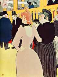 At The Moulin Rouge - La Goulue With Her Sister
