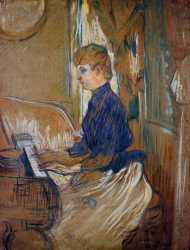 At The Piano - Juliette Pascal