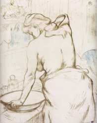 Elles - Woman At Her Toilette - Washing Herself