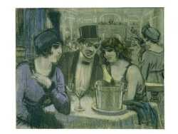 Cafe With Two Women And One Man