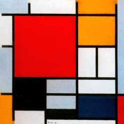 Composition With Red - Yellow And Blue
