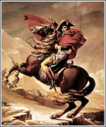 Napoleon Crossing The Alps, By David