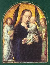 Mary And Child With Two Angels