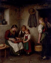 Defregger Franz Von The Music Lesson