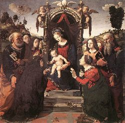 Mystical Marriage Of St Catherine Of Alexandria - 1493