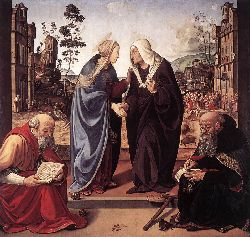 The Visitation With Sts Nicholas And Anthony - 1489-90
