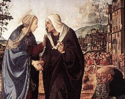 The Visitation With Sts Nicholas And Anthony (Detail) - 1489-90