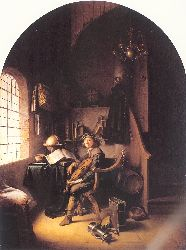 An Interior With Young Violinist