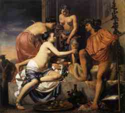 Nymphs Offering The Young Bacchus