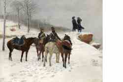 Group Of Cavalry In The Snow