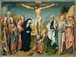 The Crucifixion With Donors And Saints Peter And Margaret 2