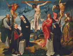 The Crucifixion With Donors And Saints Peter And Margaret